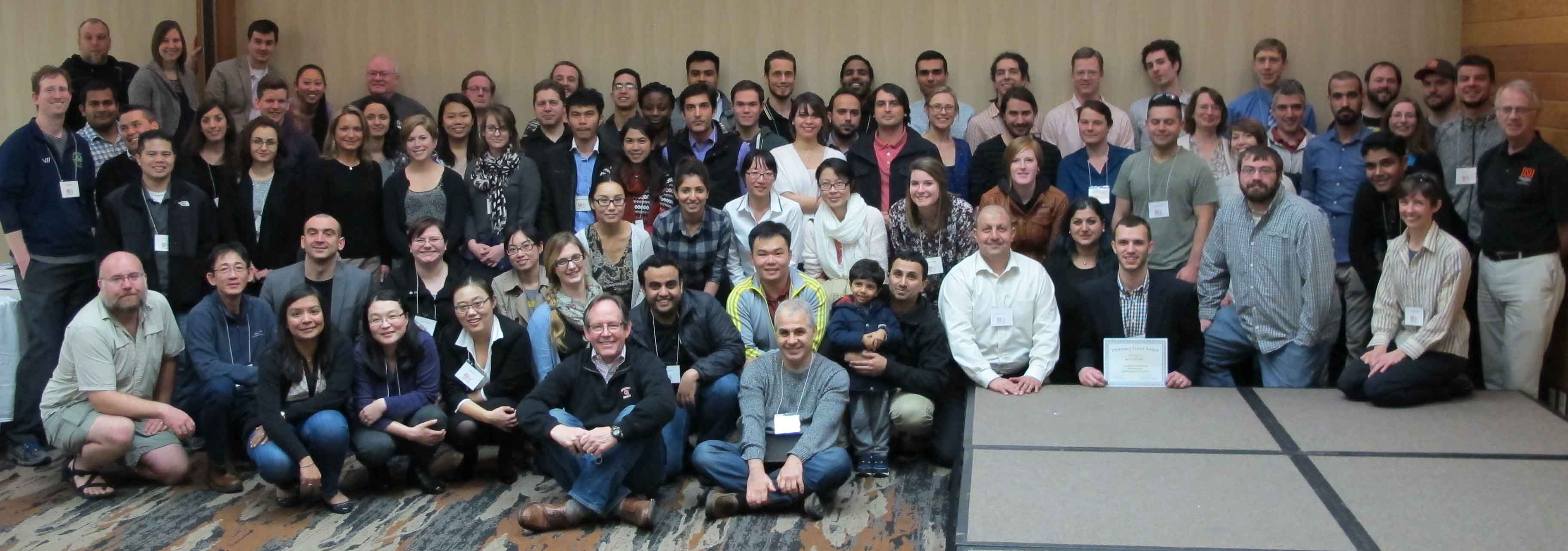 Graduate students, staff and faculty at the annual Rising research retreat on the Oregon coast