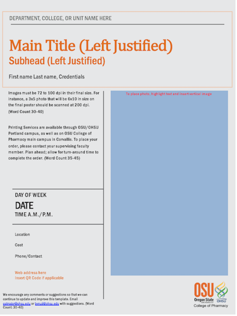 templates | college of pharmacy | oregon state university, Modern powerpoint